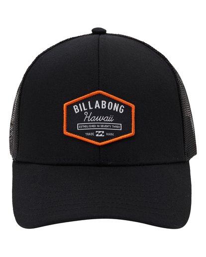 1 Walled Hawaii Trucker Hat Black MAHW1BPR Billabong