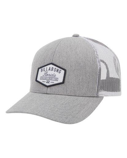 0 Walled Destination Trucker Hat Grey MAHW1BPR Billabong