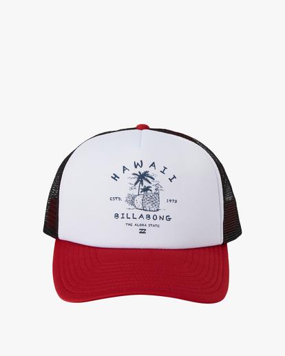 1 Vacay Trucker Hat Red MAHW1BQR Billabong