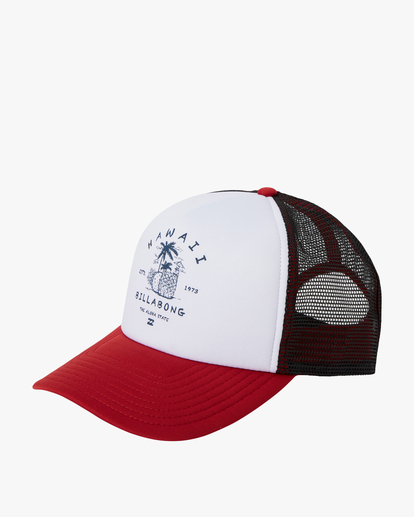 0 Vacay Trucker Hat Red MAHW1BQR Billabong