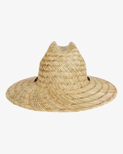 2 Tides Straw Lifeguard Hat White MAHW1BTI Billabong