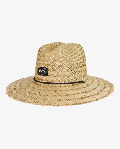 0 Tides Straw Lifeguard Hat White MAHW1BTI Billabong