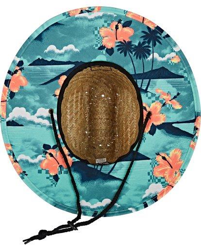 3 Tides Print Straw Lifeguard Hat Blue MAHW1BTP Billabong