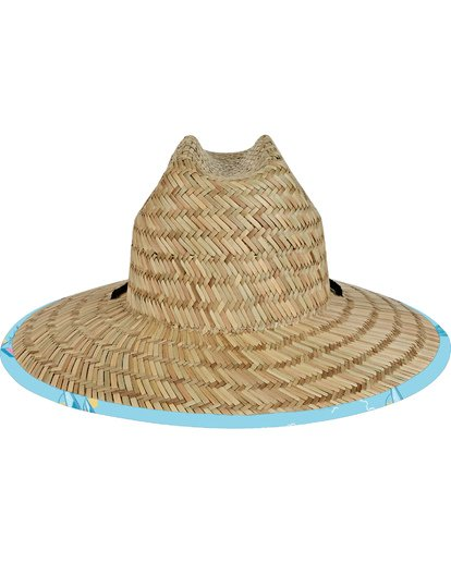2 Tides Print Straw Lifeguard Hat Blue MAHW1BTP Billabong