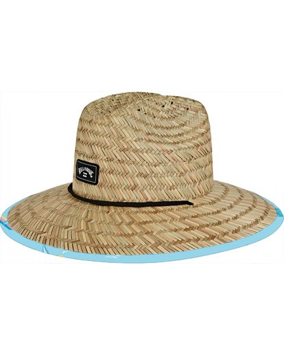 0 Tides Print Straw Lifeguard Hat Blue MAHW1BTP Billabong