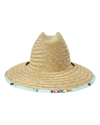 3 Tides Print Straw Lifeguard Hat Green MAHW1BTP Billabong