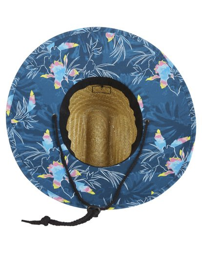 3 Tides Print Straw Lifeguard Hat Blue MAHW1BTP Billabong