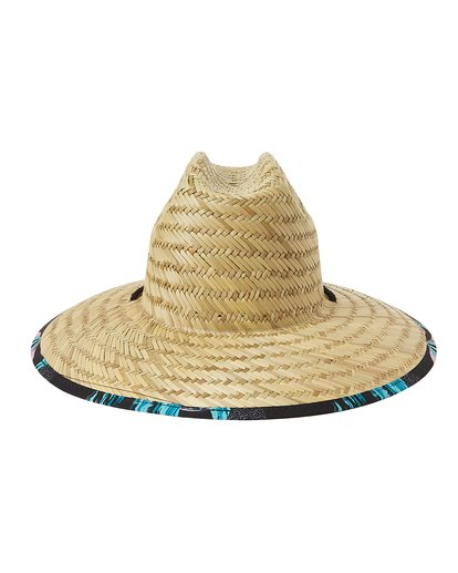 3 Tides Print Straw Lifeguard Hat White MAHW1BTP Billabong