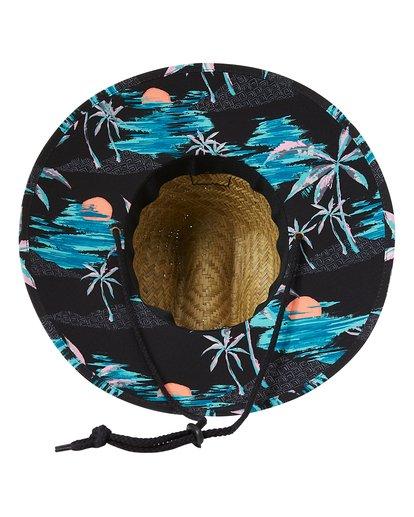4 Tides Print Straw Lifeguard Hat White MAHW1BTP Billabong