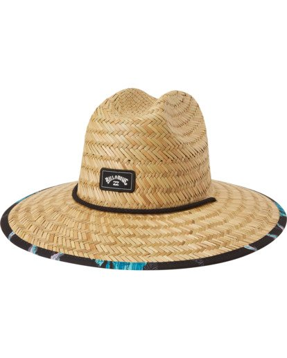 1 Tides Print Straw Lifeguard Hat White MAHW1BTP Billabong