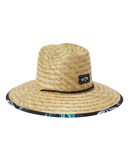 2 Tides Print Straw Lifeguard Hat White MAHW1BTP Billabong