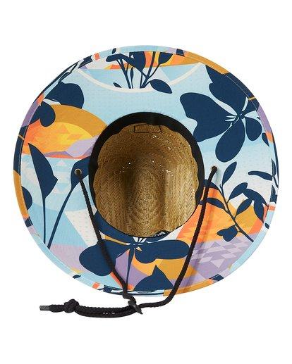 4 Tides Print Straw Lifeguard Hat Blue MAHW1BTP Billabong