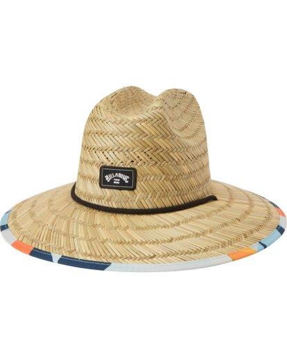 1 Tides Print Straw Lifeguard Hat Blue MAHW1BTP Billabong
