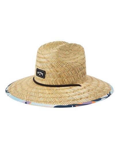 0 Tides Print Straw Lifeguard Hat Blue MAHW1BTP Billabong