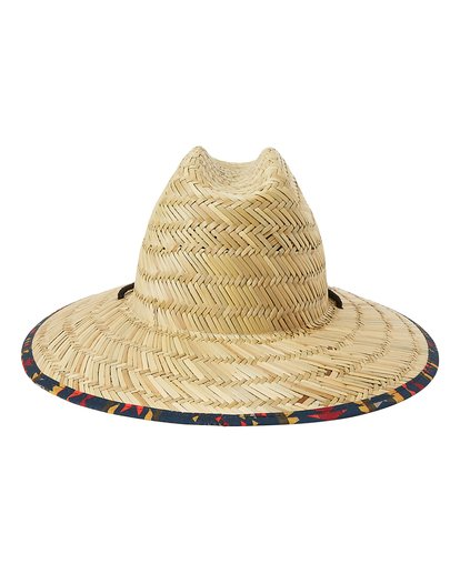 3 Tides Print Straw Lifeguard Hat Yellow MAHW1BTP Billabong