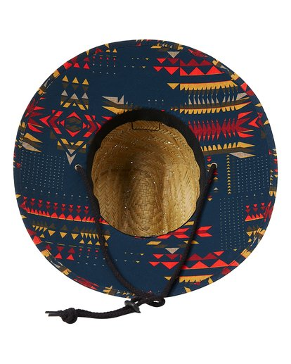 4 Tides Print Straw Lifeguard Hat Yellow MAHW1BTP Billabong