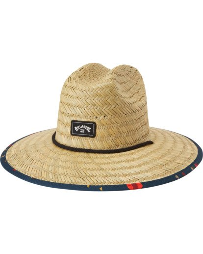 1 Tides Print Straw Lifeguard Hat Yellow MAHW1BTP Billabong