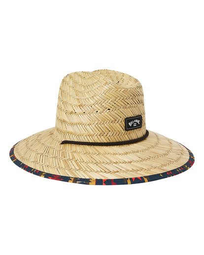 2 Tides Print Straw Lifeguard Hat Yellow MAHW1BTP Billabong
