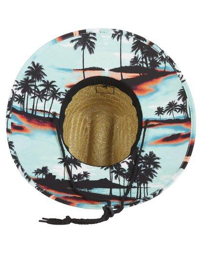 2 Tides Print Straw Lifeguard Hat Blue MAHW1BTP Billabong