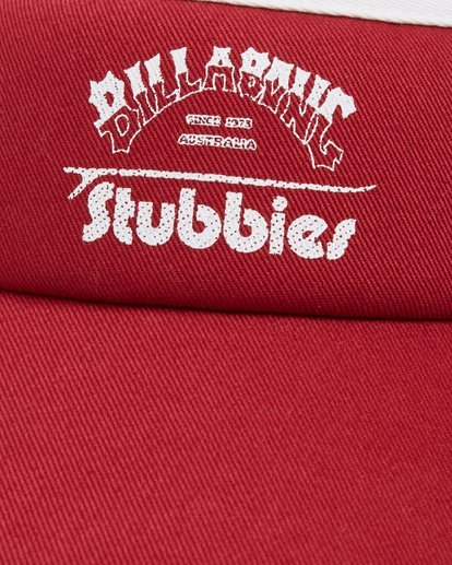 1 Stubbies Visor Red MAHW1BTR Billabong