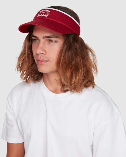3 Stubbies Visor Red MAHW1BTR Billabong
