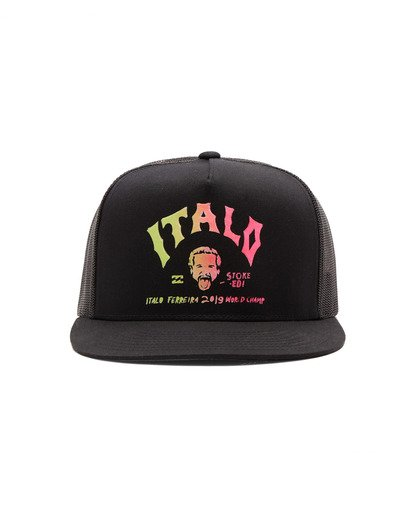 1 Italo World Title Trucker Hat Black MAHW1BWI Billabong