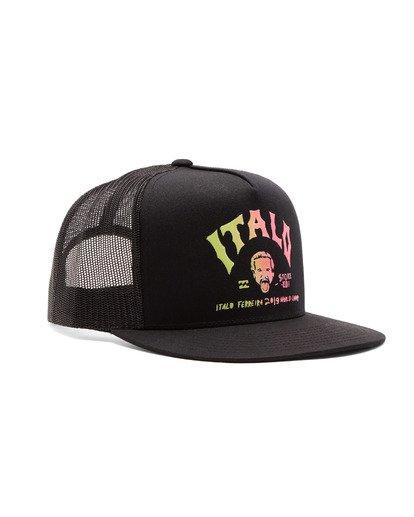 2 Italo World Title Trucker Hat Black MAHW1BWI Billabong