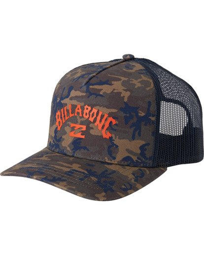 1 Arch Trucker Hat Black MAHW3BAT Billabong