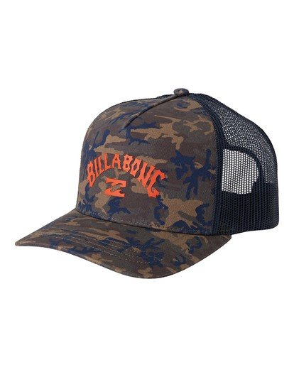 0 Arch Trucker Hat Black MAHW3BAT Billabong