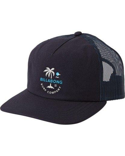 1 Backside Trucker Hat Blue MAHW3BBT Billabong
