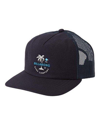 0 Backside Trucker Hat Blue MAHW3BBT Billabong