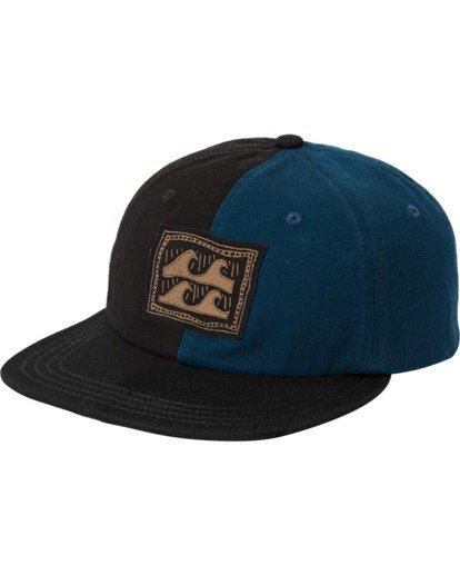 1 Halfrack Snapback Hat Black MAHW3BHA Billabong