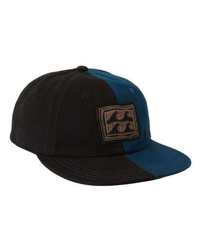 2 Halfrack Snapback Hat Black MAHW3BHA Billabong