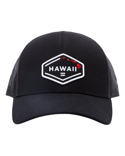 1 Hawaii Times Trucker Hat Black MAHW3BHD Billabong