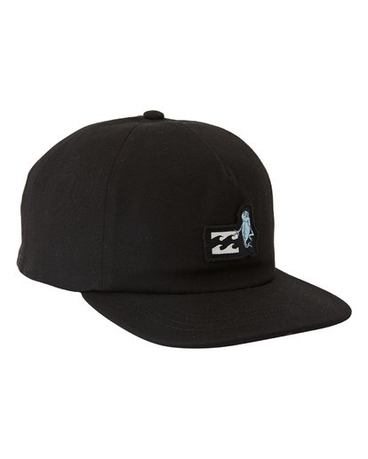 1 One Fish Two Fish Snapback Hat Black MAHW3BON Billabong