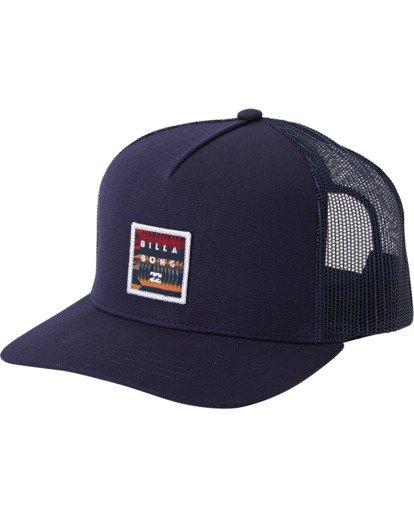 1 Stacked Trucker Hat Blue MAHW3BST Billabong