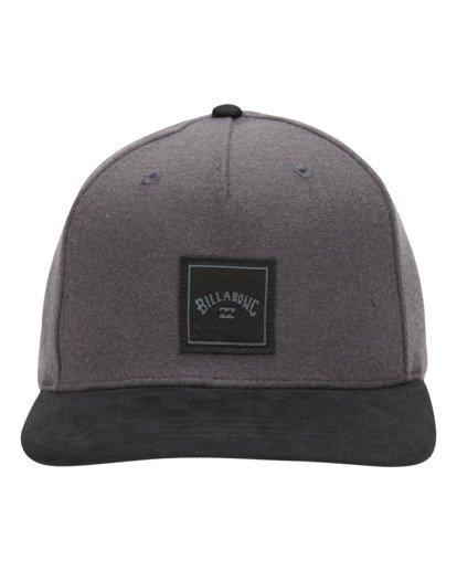 1 Stacked Up Snapback Hat Grey MAHW3BSU Billabong
