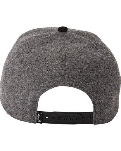 3 Stacked Up Snapback Hat Grey MAHW3BSU Billabong
