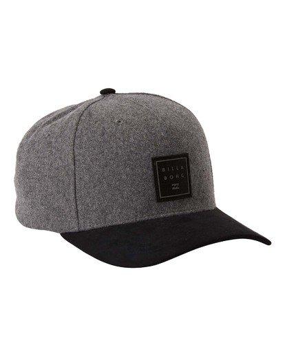 2 Stacked Up Snapback Hat Grey MAHW3BSU Billabong
