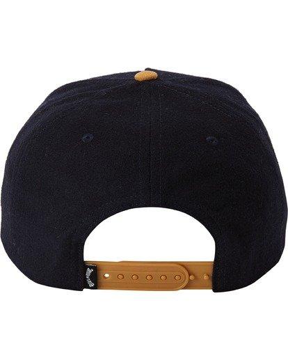 3 Stacked Up Snapback Hat Blue MAHW3BSU Billabong