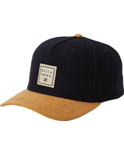 1 Stacked Up Snapback Hat Blue MAHW3BSU Billabong