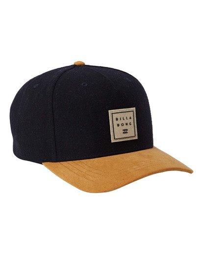 2 Stacked Up Snapback Hat Blue MAHW3BSU Billabong