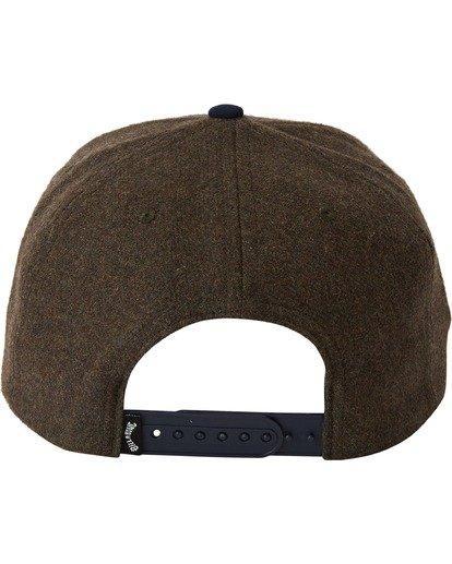 3 Stacked Up Snapback Hat Green MAHW3BSU Billabong