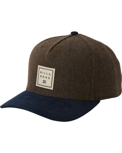 1 Stacked Up Snapback Hat Green MAHW3BSU Billabong