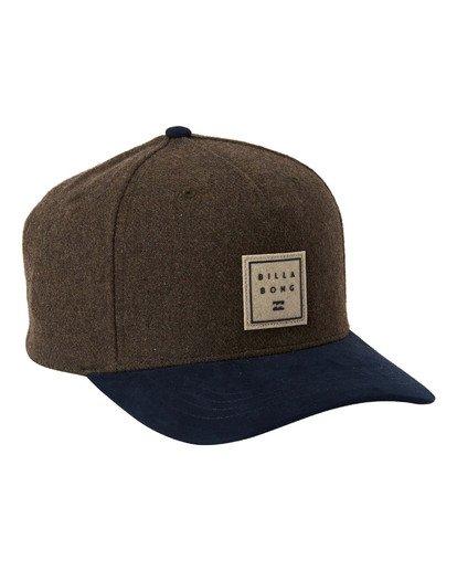2 Stacked Up Snapback Hat Green MAHW3BSU Billabong