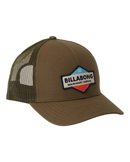 2 Walled Trucker Hat Grey MAHW3BWA Billabong
