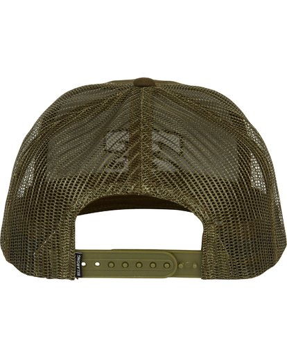 3 All Day Trucker Hat Green MAHWNBAR Billabong