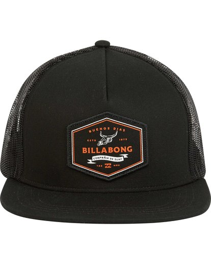 1 Flatwall Trucker Hat Black MAHWPBFW Billabong
