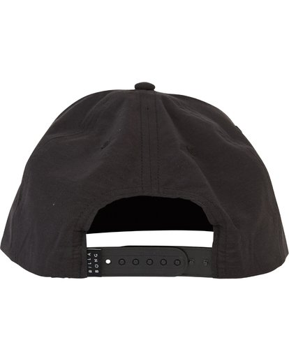 3 Stackedfade Twill Snap Back Hat Black MAHWSBSF Billabong