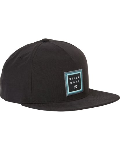 2 Stackedfade Twill Snap Back Hat Black MAHWSBSF Billabong